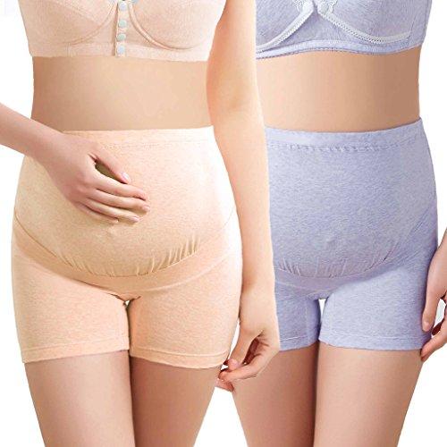 Maternity Boyshort (Intimate Portal Women Anti Chafing Maternity Boyshort Briefs 2-PK Purple Beige XL)