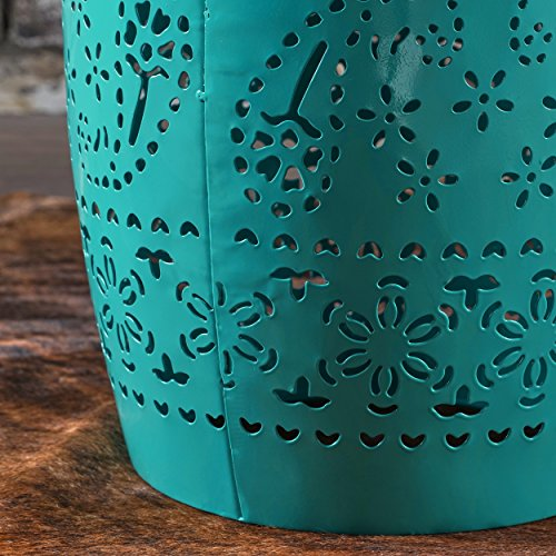 Apple Valley Lace Cut Teal Iron Accent Table by Great Deal Furniture (Image #3)