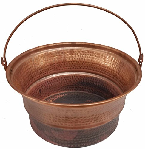 Egypt gift shops Hand Hammered Copper Bucket Basin Athlete Foot Disorder Remedy Massage Relaxing Soothing Therapy Pedicure Spa Bride Beauty Salon Yoga antifungal Natural medication by Egypt Gift Shops