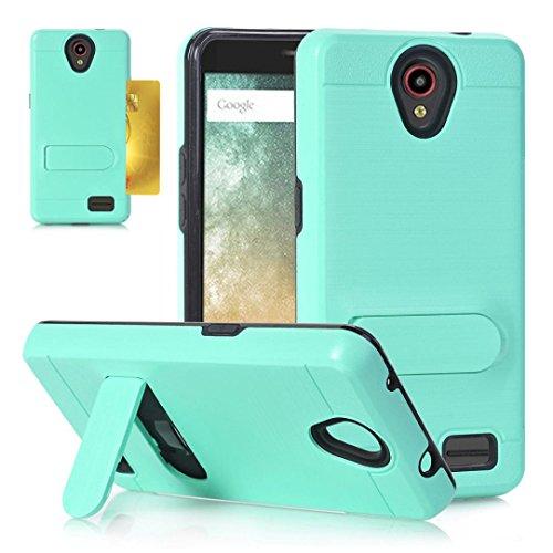 Wensltd Card Pocket Holder Holster Case Stand Cover for ZTE Avid Trio Z831 (mint green) ()