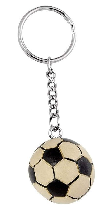 Ten Llavero balón de fútbol de Madera cod.EL34609 cm 8,5x2 ...