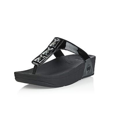 5ac7f6835 FitFlop Sandals Pietra Black Black UK6  Amazon.co.uk  Shoes   Bags