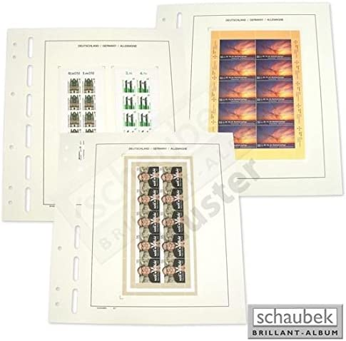 Schaubek 643 / b1 – 5ドイツのシート – 2 foils 71 mm x 160 mm Pack of 5シート
