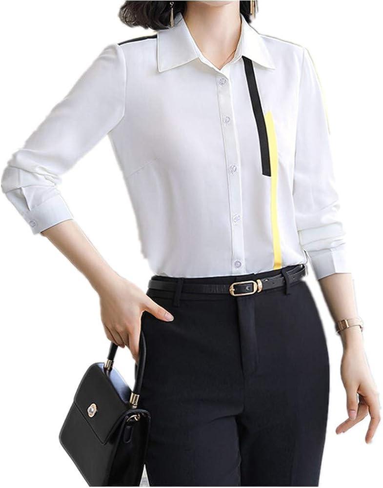 NOBRAND Camisa blanca para mujer diseño sentido nuevo moda para mujer en otoño Blanco blanco XXXL: Amazon.es: Ropa y accesorios