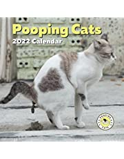 Pooping Cats Calendar 2022: Funny Cat Lover Gifts for Gag, White Elephant, Birthday or Christmas: Men Coworker Teens Kids Friends Women