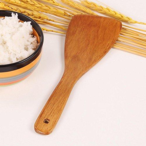 donfohy grande Cuchara de madera cuchara de madera Arroz Scoop Pala Hit la cuchara cuchara de madera Hold Arrocera...