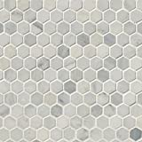 M S International Arabescato Carrara 11.1 In. X 11.5 In. X 10mm Honed Marble Mesh-Mounted Mosaic Tile, (8.9 sq. ft., 10 pieces per case)