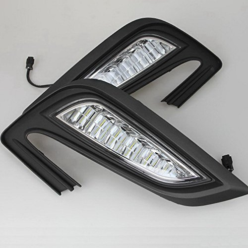 July King LED Daytime Running Lights DRL 6000K Fog Lamp for Buick Encore and Opel Mokka X 2016+
