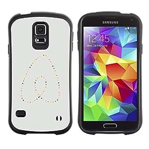 """Hypernova Slim Fit Dual Barniz Protector Caso Case Funda Para Samsung Galaxy S5 [Perlas del corazón del oro azul minimalista""""]"""