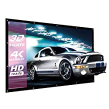 120 Inch Projector Screen 16:9 NIERBO Portable Movies Screen HD Projection Screen for Home Indoor Outdoor