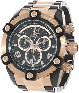 "Invicta Men's 13019 ""Arsenal"" 18k Rose Gold Ion-Plated and Black Ion-Plated Stainless Steel Watch"