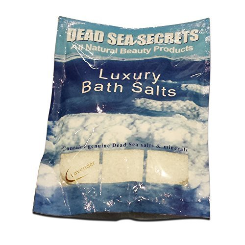 Premier Dead Sea Salt from Israel, Authentic Pure Organic Luxury Dead Sea Secrets Salts with Only Soothing Lavender Oil, Relax Detox Exfoliate Rejuvenate, Eczema Psoriasis, Relaxing Healing Soak by DEADSEASECRETS