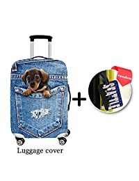 ONE 2 Spandex Colorful-designed Suitcase Cover Suitable For Almost All Sizes Luggage With Buckle (M(22-26), H2289)