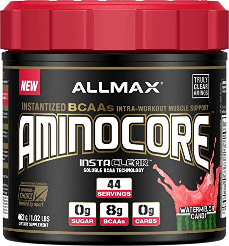 ALLMAX Nutrition Aminocore BCAAs, 100% Pure 45:30:25 Ratio, Watermelon Candy, 462g