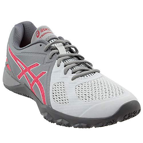 ASICS Women's Conviction X Cross-Trainer Shoe, Aluminum/Diva Pink/Glacier Grey, 6 M US