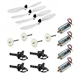 UUMART 4pcs Propellers & 4pcs Motor & 4pcs Gear & 4pcs Motor Mount Spare Parts For JJRC H16 Yizhan Tarantula X6 RC Quadcopter