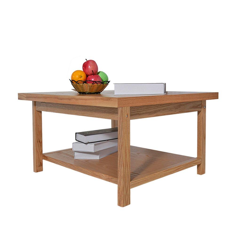2d27f27c4a54ca Anaelle Panana Table Basse en Bois Massif Rectangulaire Moderne avec Etag è  re sur Salon, ...
