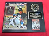 Mike Piazza 2016 Hall of Fame Collectors Clock Plaque w/8x10 Photo and Card