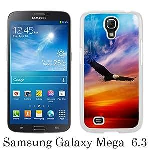 Flying Eagle Pattern White Unique Abstract Custom Samsung Galaxy Mega 6.3 i9200 i9205 Case