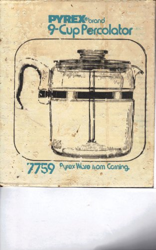 (Vintage Pyrex 7759 9-cup Flameware Glass Coffee Maker-percolator)