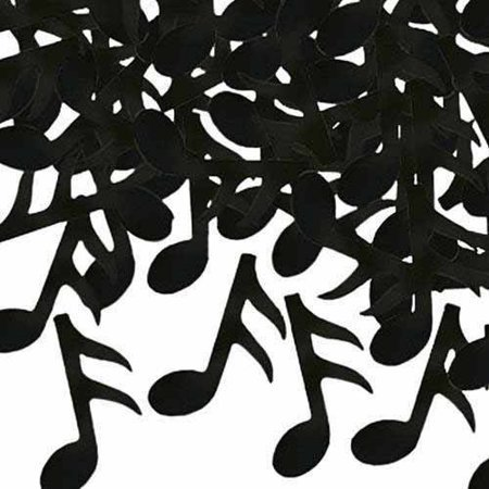 Musical Note Party Confetti (Pack of 3) Shiny Black Plastic Confetti for Table, Celebration, Centerpiece, Musical Theme Party Decorations