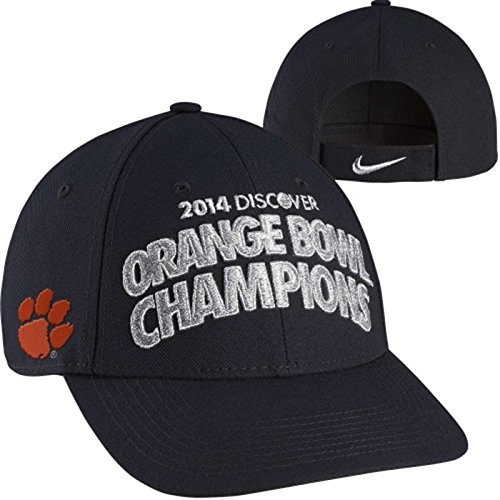 Nike Clemson Tigers 2014 Orange Bowl Champions Locker Room Coaches Adjustable Hat - Black - Coach Embroidered Cap