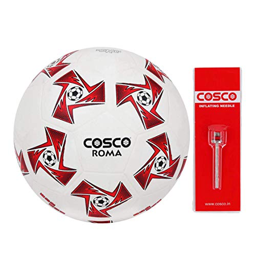 Cosco Roma Foot Ball, Size 5  White/Red