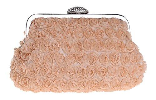 sera piccola borse tracolla catena sera pochette per Borsette da PLYY da donna con donna rosa perla a borsa qZ4KETw