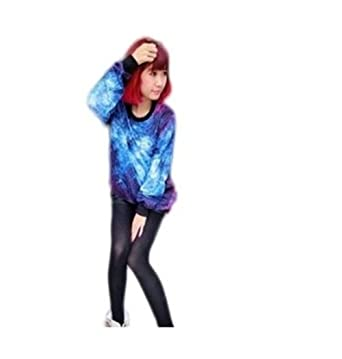 196a22b9b7d6 New fashion sexy lovers Cosmic Star loose pullover sweater (Blue Star) at  Amazon Women s Clothing store