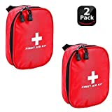 Lanticy First Aid Pouch, 2 Pack Waterproof Empty Medicine Storage Bag Portable Medical Package Nylon Emergency Medical Kit Survival Medicine Pills Pocket Container Perfect for Home Car Travel Outdoor