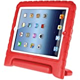Afranker Ipad 2/3/4 Shockproof Case Light Weight Kids Case Super Protection Cover Handle Stand Case for Kids Children for Ipad 2/3/4 Red