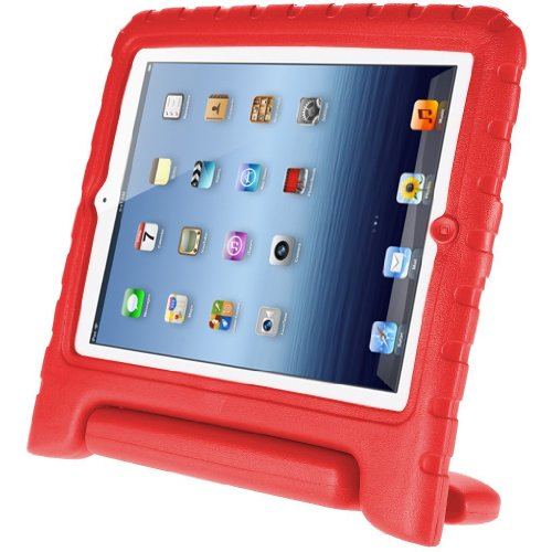 Afranker Ipad Mini/Mini 2 Shockproof Case Light Weight Kids Case Super Protection Cover Handle Stand Case for Kids Children for Apple Ipad Mini/Mini 2 Red