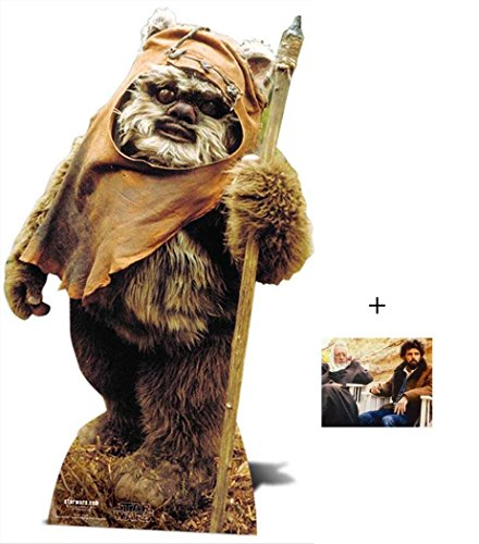 Fan Pack - Wicket The Ewok Star Wars Lifesize Cardboard Cutout/Standee/Standup- Includes 8x10 Star -
