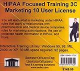 HIPAA Focused Training 3C Marketing, 10 User License, Farb, Daniel, 159491172X