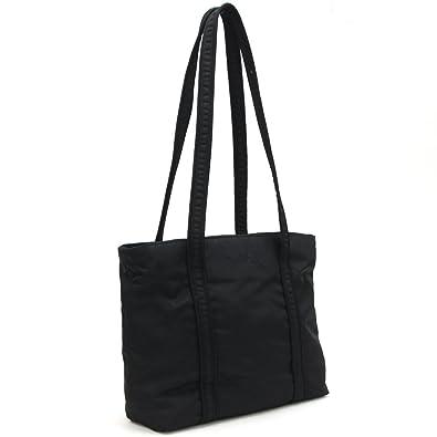a46fd3f35cb2 PRADA(プラダ) トートバッグ ブラック ナイロン 中古 ロゴ 刺繍 フォーマル 黒 PRADA [並行
