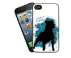 Eclipse Gift Ideas Staffordshire Bull Terrier Phone Case, Design 5 - For Apple iPhone 4 / 4s - Cover