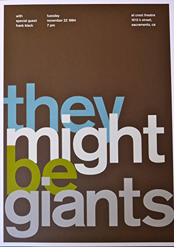 They Might Be Giants - Live at Crest Theatre - Concert Gig Poster - 10