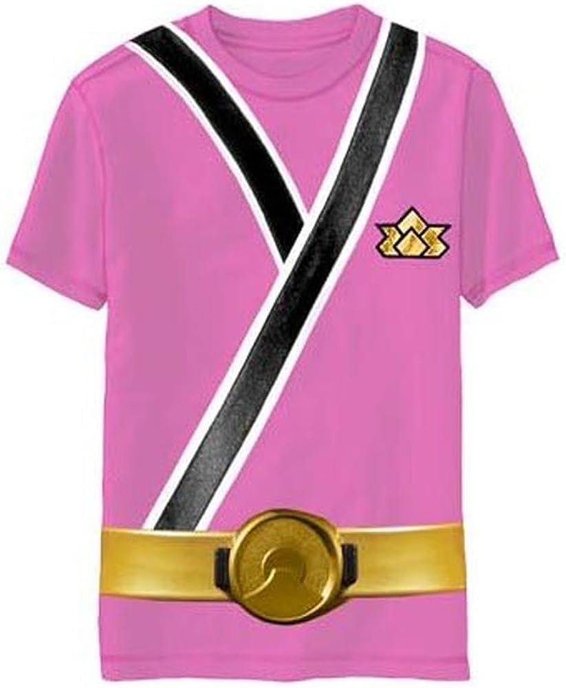 Power Rangers Samurai Ranger Pink Uniform Monster Toddler T-Shirt (Toddler Small 4T): Clothing