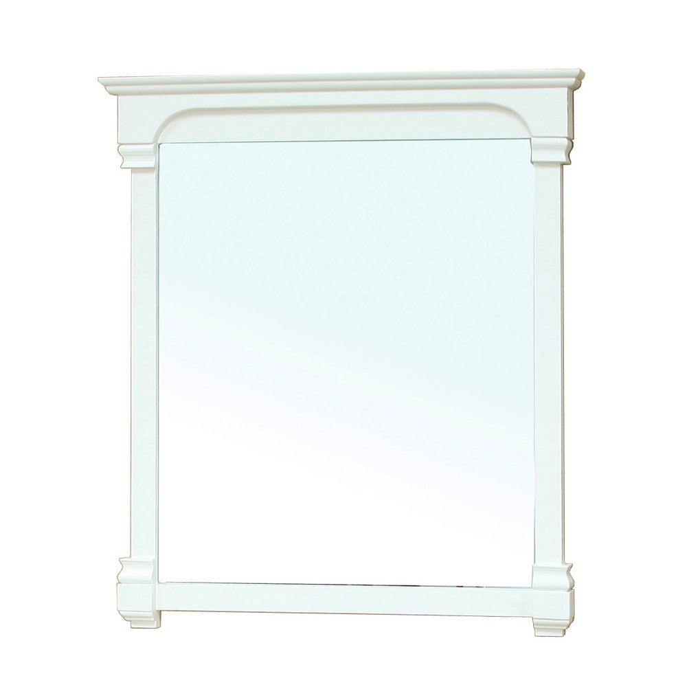 Bellaterra Home 205050-MIRROR-CR 42-Inch Solid Wood Frame Mirror, Cream White by Bellaterra Home