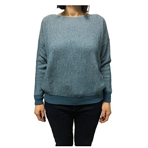 MADE MADE MADE MARTINO GAIA maglia maglia maglia maglia 30 IN 70 azzurro donna lana ITALY cashmere bianco pdqwzdR