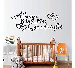 Ajcwhml Siempre bésame Buenas Noches Hermosa Decorativa Extraíble ...