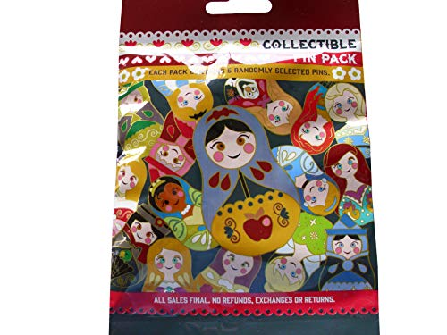 Disney Nesting Dolls 5 Pin Collectible Packs - Collectible Disney Dolls