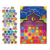 RAMADAN DAILY TRACKER A3 SIZE POSTER WITH 43 STICKERS FOR MUSLIM KIDS CHILDREN