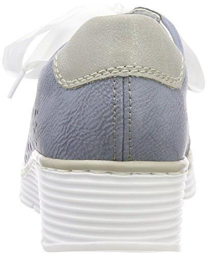 Scarpe Blu nebbia adria Donna Stringate Oxford 587p3 Rieker Pw1Tx5