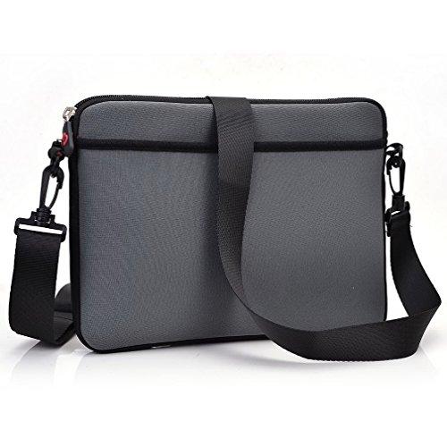 Kroo Tablet Sleeve mit abnehmbarem Tragegurt Neopren Schutzhülle für Archos 70b Cobalt Tablet grau grau grau