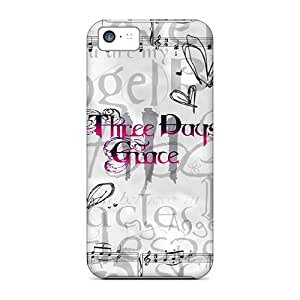 Bumper Hard Phone Case For Iphone 5c With Custom High Resolution Three Days Grace Image VIVIENRowland