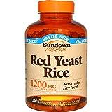 Rexall Sundown Naturals, Red Yeast Rice, 1200 mg, 240 Capsules - 2pc