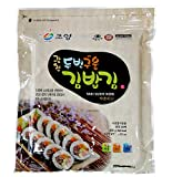 50 Full Size Sheets (3.5oz) Korean Roasted Seaweed Premium Yaki Sushi Nori Gimbap Roll, Vacuum Packed
