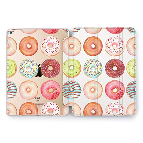 Wonder Wild Cute Food Apple New iPad Case 9.7 inch Mini 1 2 3 4 Air 2 10.5 12.9 2018 2017 Cover Donuts Pattern Texture Plastic Print Watercolor Design Clear Smart Stand Great Gift Glaze Chocolate