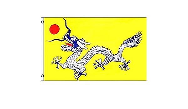Estados Unidos Premium Store antiguo chino Empire bandera 3 x 5 ft Qing Dynasty dragón Pre República Popular de China: Amazon.es: Jardín